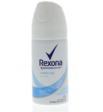 Deodorant spray cotton dry