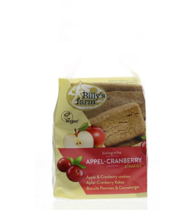 Appel cranberry staafjes bio