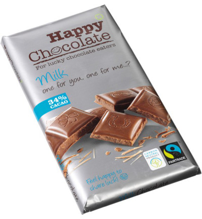 Happy chocolate melk 34%
