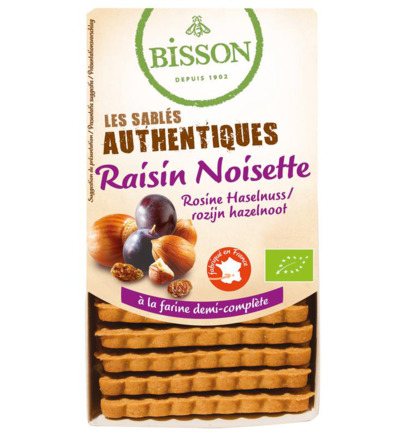 Biscuits hazelnoot rozijn