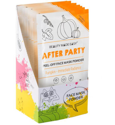 After party face mask powder