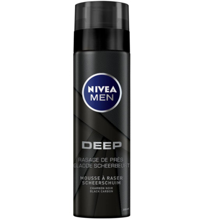 Men deep black shaving foam