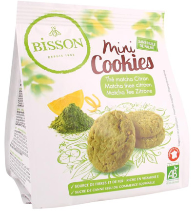 Mini cookies matcha thee citroen bio