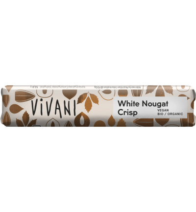 Chocolate To Go white nougat crisp vegan bio