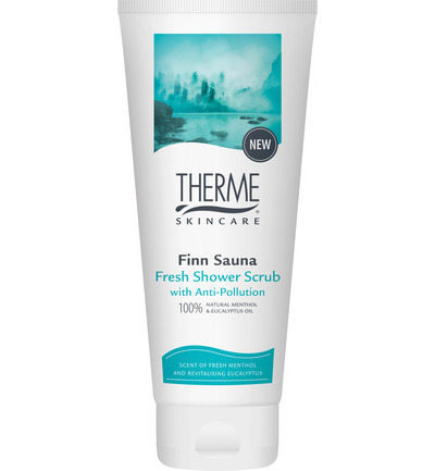 Finn sauna fresh shower scrub