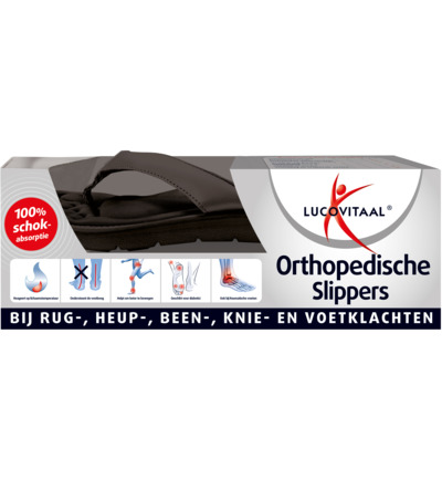 Orthopedische slippers 37-38 zwart