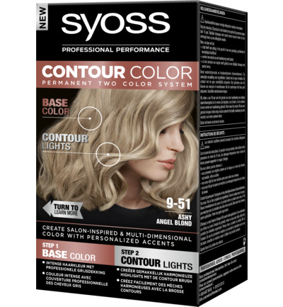 Contour color 9-51 ashy angel blond
