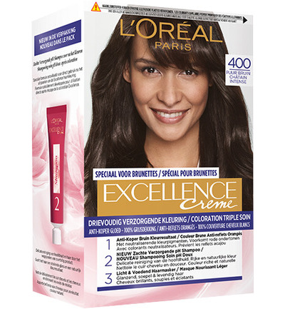 Excellence creme 400 puur bruin