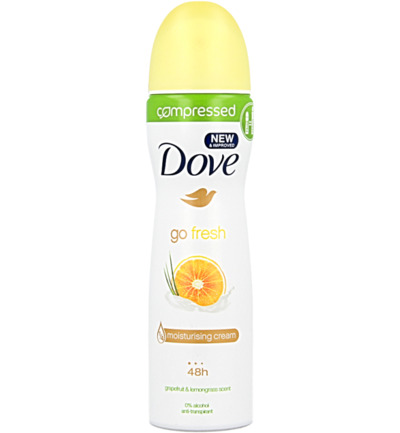 Deodorant spray go fresh grapefruit