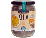 Raw chia zaad in glas