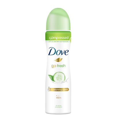 Deodorant spray compressed go fresh cucumber