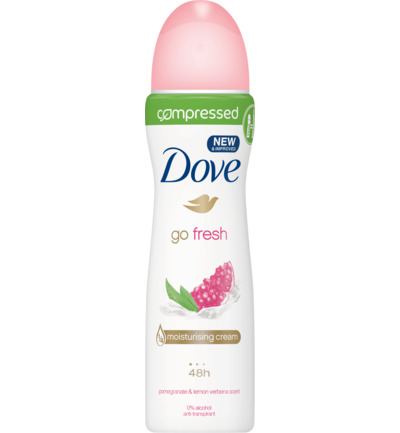 Deodorant body spray compressed go fresh pomegran
