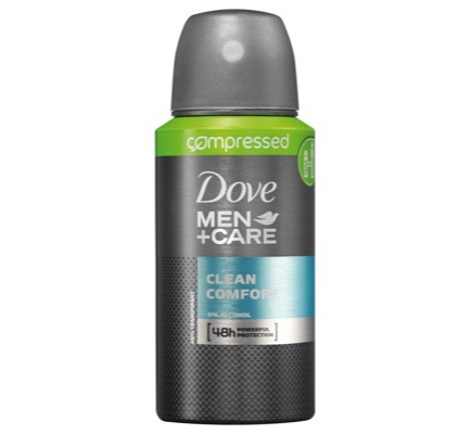 Deodorant spray compressed men clean comfort