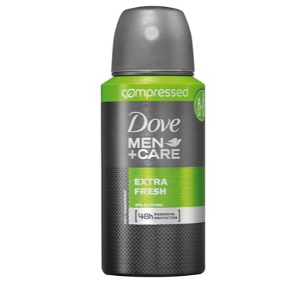 Deodorant body spray compressed men extra fresh
