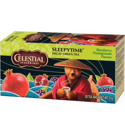 Sleepytime decaf blackberry pomegranate herb tea