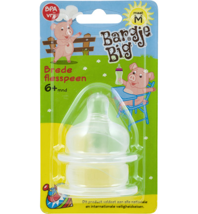 Silicone speen brede fles maat M