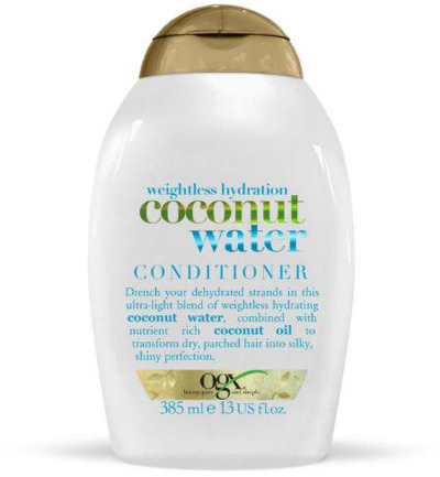 Weightless hydration coconut water conditioner
