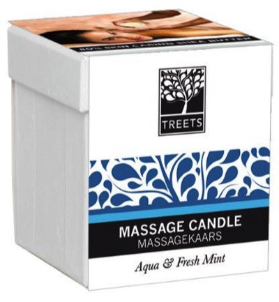 Massage candle aqua & fresh mint