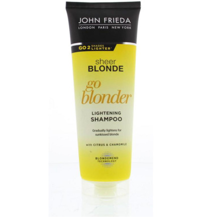 Sheer blonde shampoo go blonder