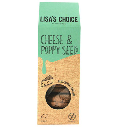Cheese & poppy seed cookies bio