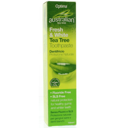Australian tea tree tandpasta fresh & white