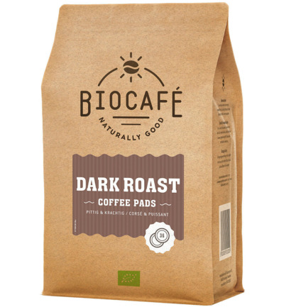 Coffee pads dark roast bio