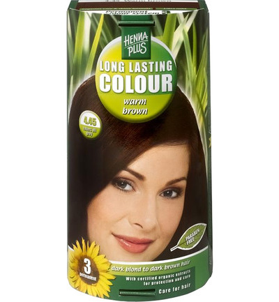 Long lasting colour 4.45 warm brown