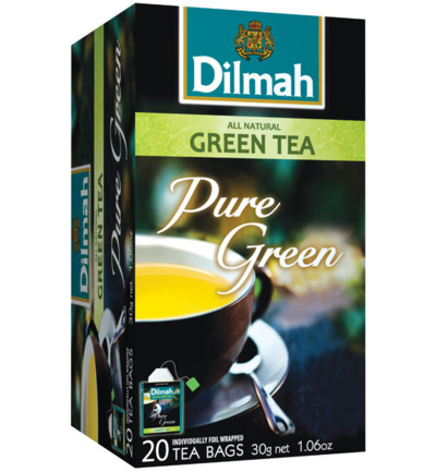 All natural green tea pure