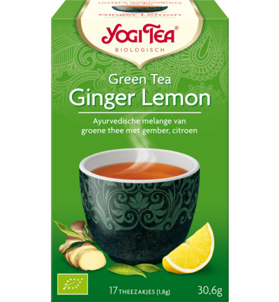 Yogi Tea Green Tea Ginger Lemon 17stuks