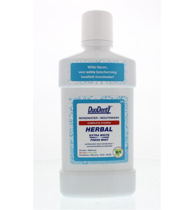 Duodent Mondwater Herbal Extra White 500ml