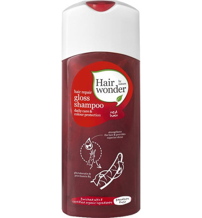 Hair repair gloss shampoo red hair