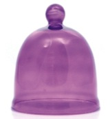 Lavender path bell candle violet