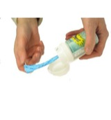 Knot a bag dispenser & refill
