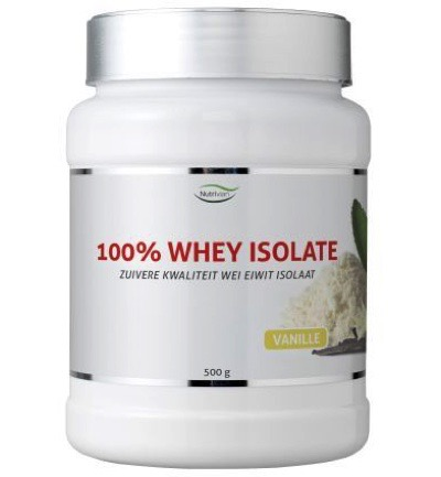 100% Whey isolate stevia vanilla
