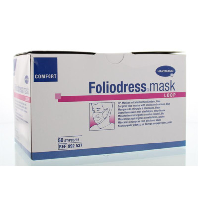 Foliodress mask comfort loop blauw