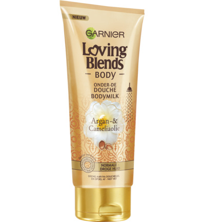 Loving Blends Bodymilk onder de douche argan camelia olie