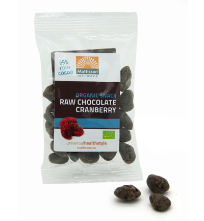 Cranberries snack raw chocolate bio