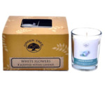 Geurkaars white flower votives