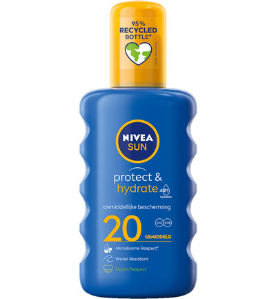 Sun protect & hydrate zonnespray SPF20