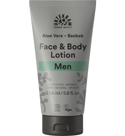Men gezicht en body lotion