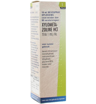 Xylometazoline 1 mg spray