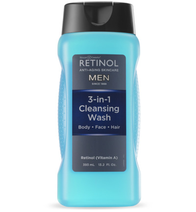 retinol men 3in1 cleans wash