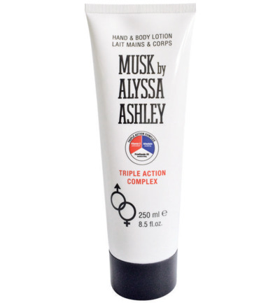 Musk hand & body triple action lotion