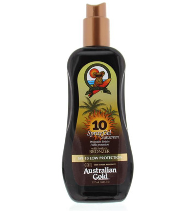 Spray gel met bronzer SPF10