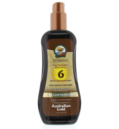 Spray gel met bronzer SPF6