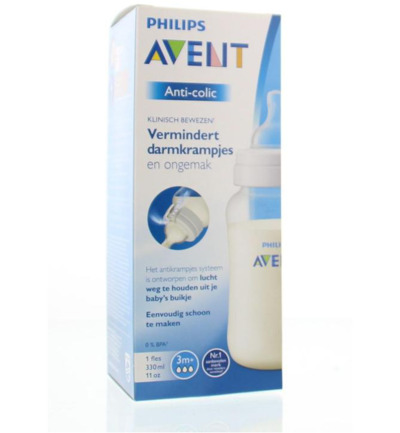Zuigfles anti koliek 330 ml