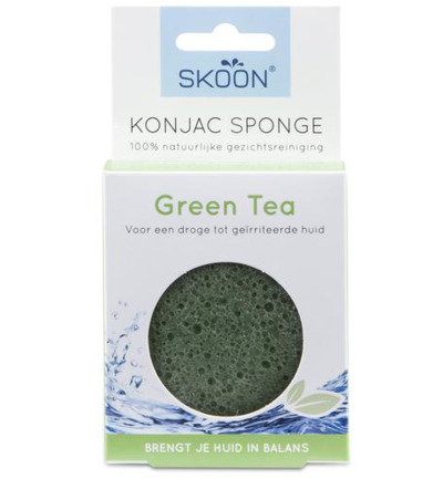 Konjac spons green tea bio