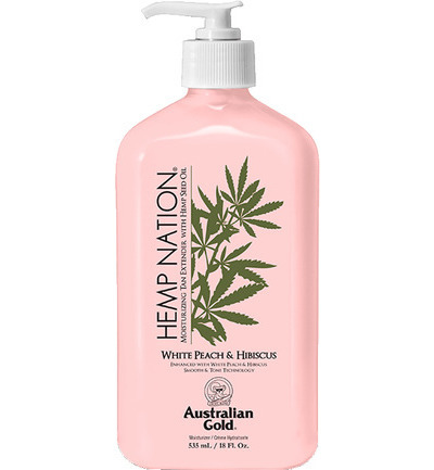 Hemp nation tan extender white peach hibiscus