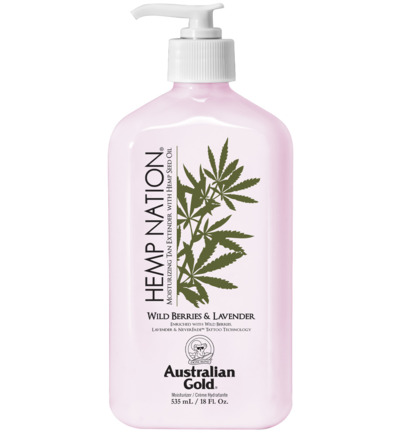 Hemp nation tan extender wild berries lavender