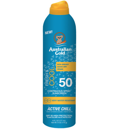 Fresh & cool active chill continuous spray SPF30